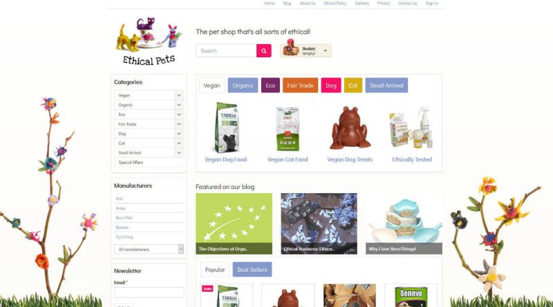 Ethical pets online pet shop